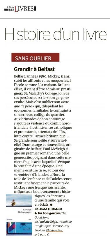 Le Monde Des Livre Review